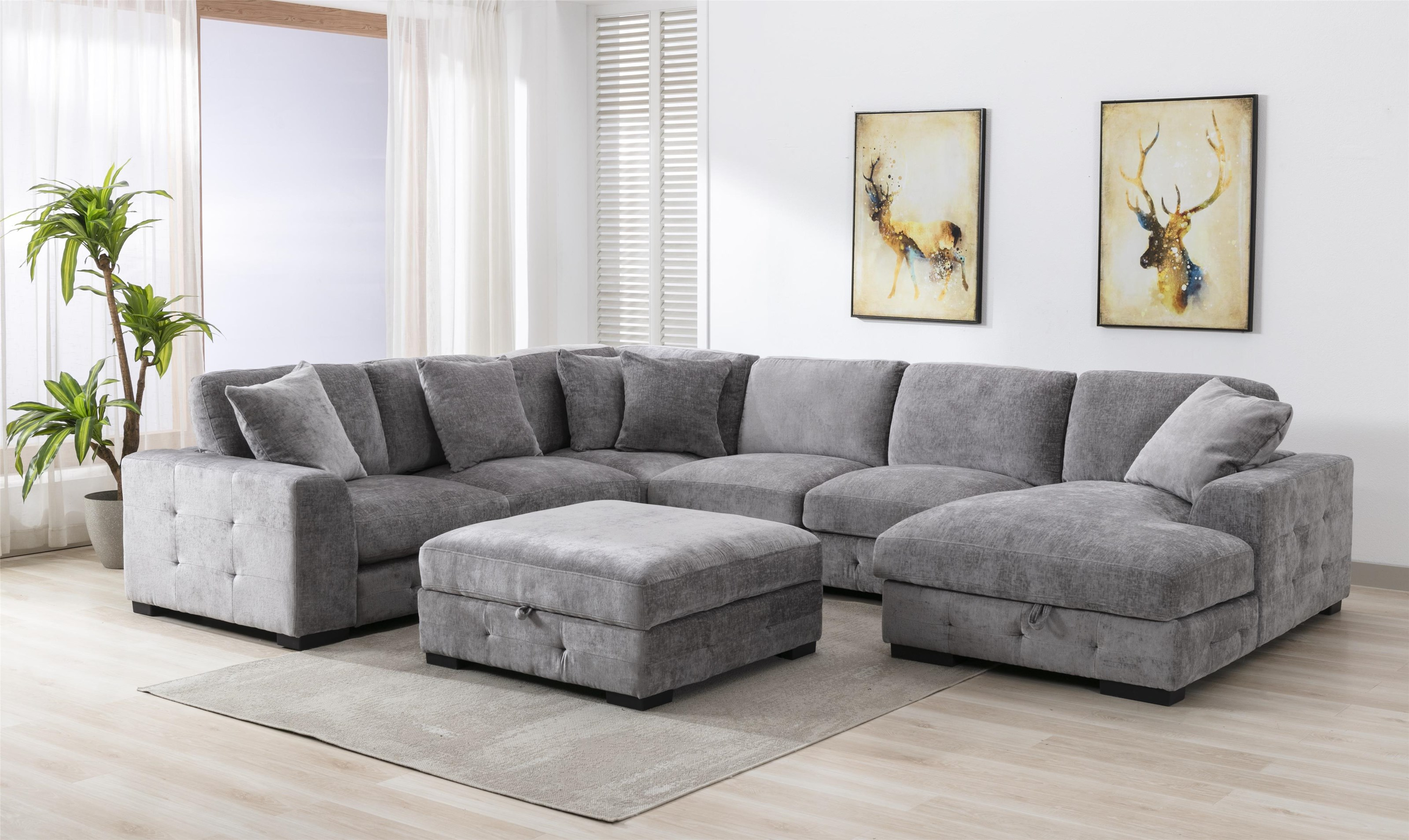 U23587 DOVE Four Piece Chaise sectional by Lifestyle at Furniture Fair - North Carolina