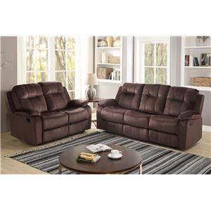 Chocolate Reclining Sofa & Loveseat Set