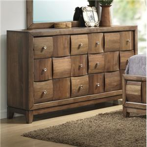 Lifestyle Walnut Parquet Dresser