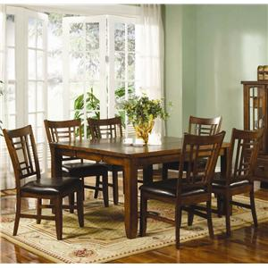 Lifestyle California Eureka  7 Piece Table and Chair Set