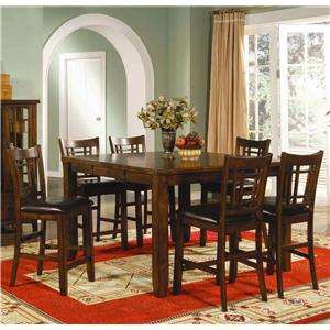 Lifestyle California Eureka  7 Piece Counter Height Table and Chair Set