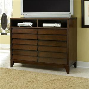 Ligna Furniture Canali 6 Drawer Entertainment Console