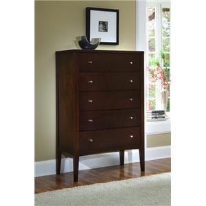 Ligna Furniture Port 5 Drawer High Chest