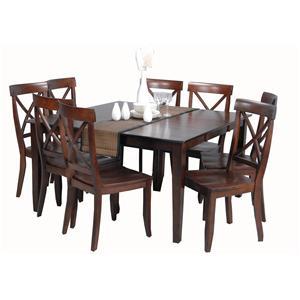 Ligo Products Contemporary 9 Piece Casual Dining Set