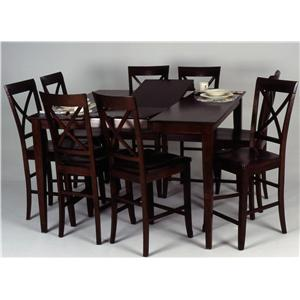 Ligo Products Contemporary Counter Height Table and Chair Set