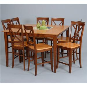 Ligo Products Contemporary Counter Table and Counter Chair Set