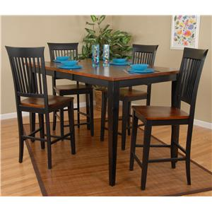 Ligo Products Contemporary 5 Piece Table and Chair Set