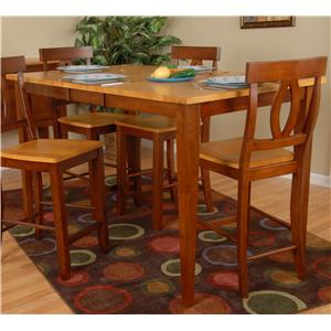 Ligo Products Contemporary Counter Height Leaf Table