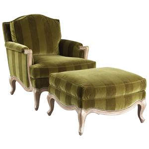 Lillian August Custom Upholstery Sophia Chair & Ottoman