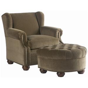 Lillian August Custom Upholstery Dover Chair & Ottoman