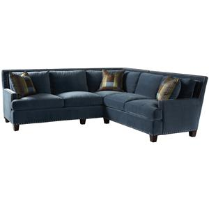 Lillian August Custom Upholstery Smithfield Left Arm Corner Sofa