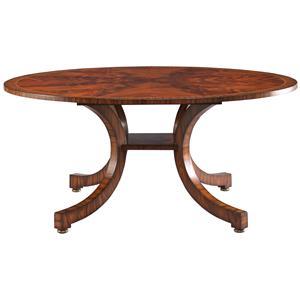 Lillian August Wood Portman Bow Leg Dining Table