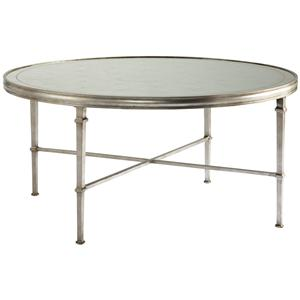 Lillian August Wood Lombard Round Cocktail Table
