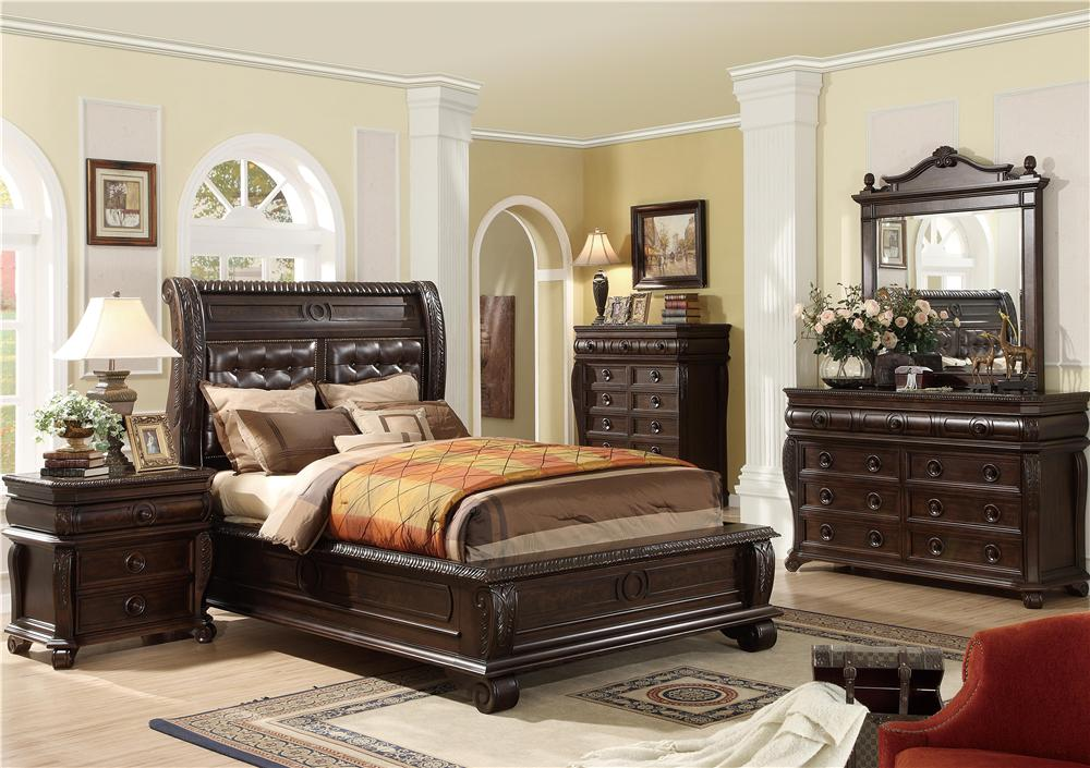 King 4 Piece Bedroom Group (chest not included)