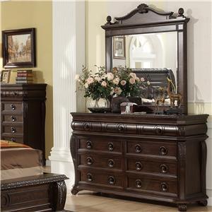 Dresser w/ Landscape Mirror