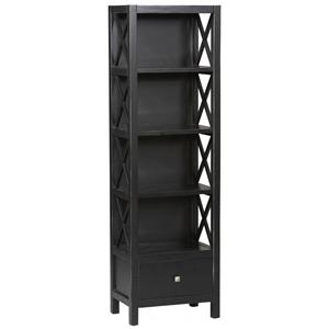 Linon Anna Tall Narrow 5 Shelf Bookcase