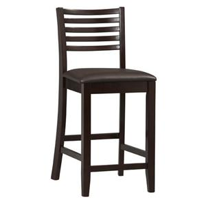 "Linon Bar and Counter Stools Triena 24"" Ladder Counter Stool"