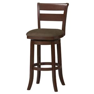 "Linon Bar and Counter Stools 24"" Essex Wood Swivel Stool"