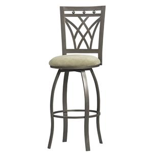 "Linon Bar and Counter Stools 24"" Crown Back Counter Stool"