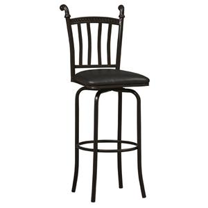 """Linon Bar and Counter Stools 24"""" Mission Horn Counter Stool"""