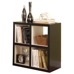 Linon Home Office Hollowcore 4 Cube Square Bookcase