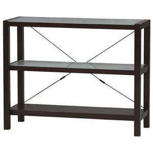 Linon Metro Glass Top 3 Shelf Bookcase