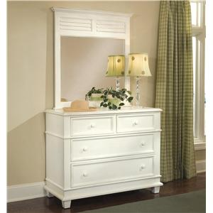 Linwood Furniture Villages of Gulf Breeze Single Dresser with Landscape Mirror