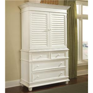 Linwood Furniture Villages of Gulf Breeze Single Dresser with Door Hutch