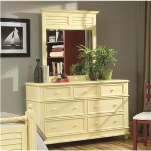 Linwood Furniture Villages of Gulf Breeze Double Dresser with Landscape Mirror