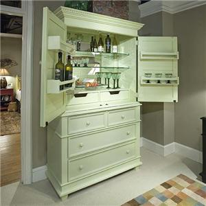 Linwood Furniture Villages of Gulf Breeze Single Dresser with Bar Hutch