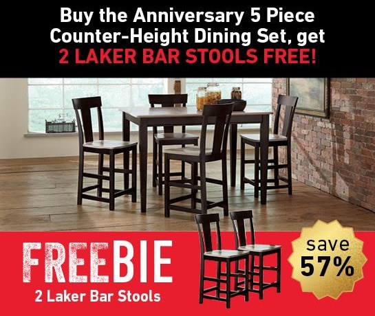 Anniversary II Anniversary Dining Set with Freebie! at Morris Home