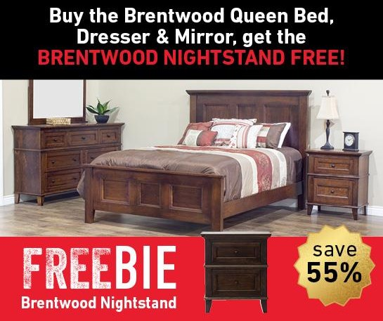 Brentwood Brentwood Bedroom Set with Freebie! at Morris Home