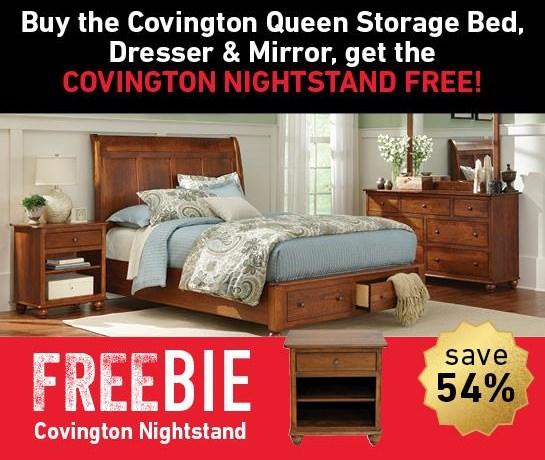 Covington Covington Bedroom Group with Freebie! at Morris Home