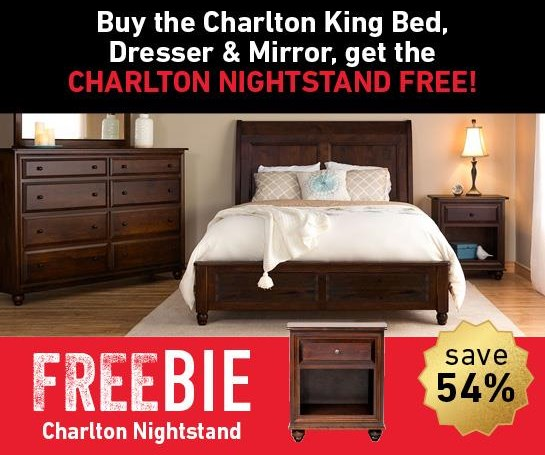 Charlton Charlton King Bed Set with Freebie! at Morris Home