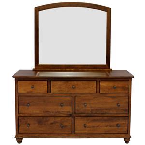 L.J. Gascho Furniture Covington Dresser and Mirror Set