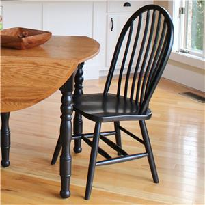 L.J. Gascho Furniture Solid Wood Dining Sets Bow Spindle Side Chair