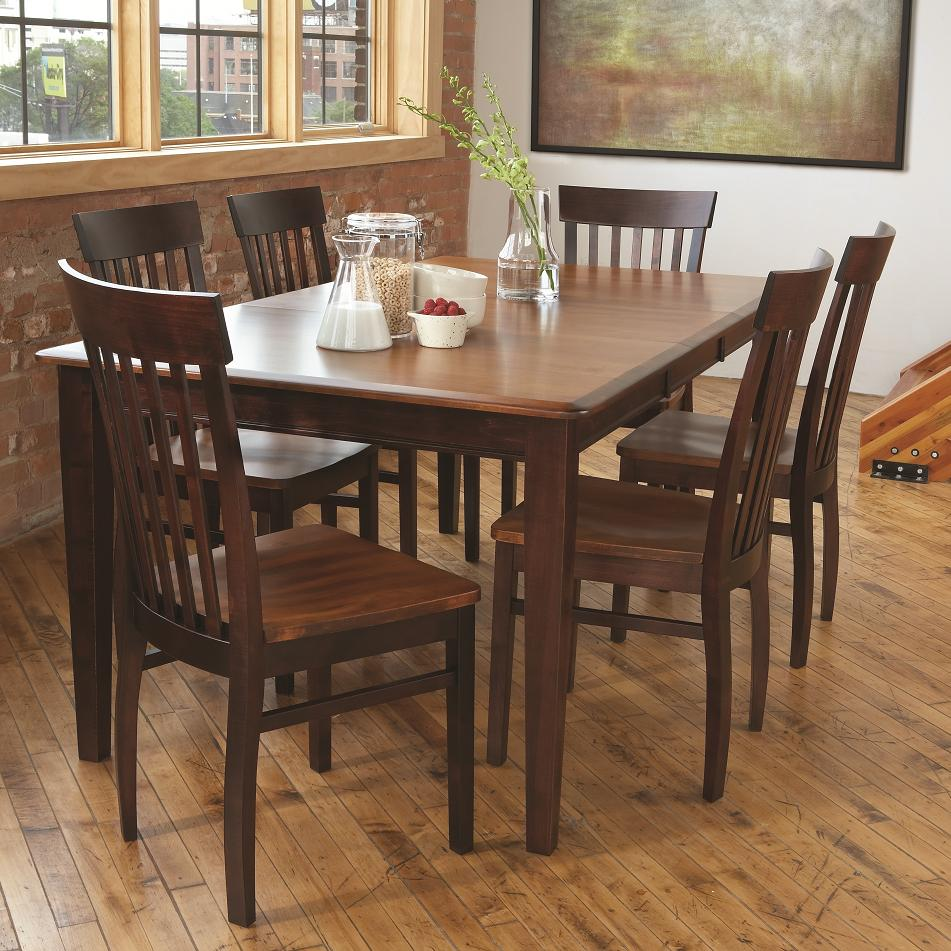 Solid Wood Dining Sets 7 Piece Dining Set by L.J. Gascho Furniture at Goods Furniture