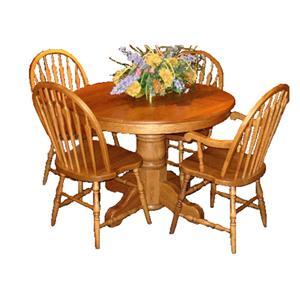 L.J. Gascho Furniture Oak Ridge  Round Pedestal Table & Chair Set