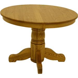 L.J. Gascho Furniture Oak Ridge  42 Inch Round Pedestal Table