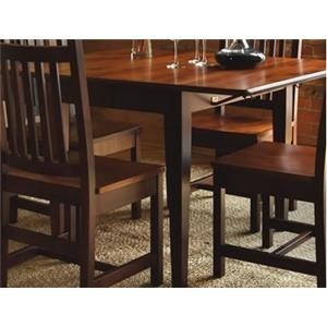 Saber Solid Maple Drop Leaf Table