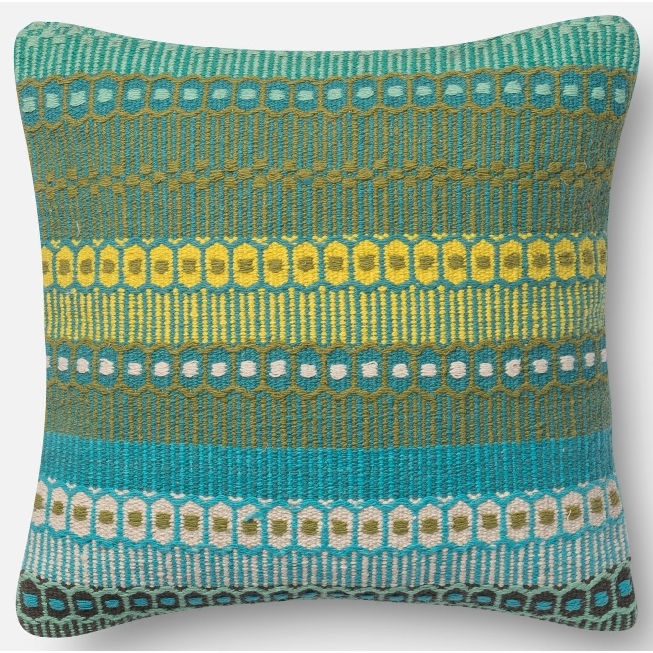 "Accent Pillows 18"" X 18"" Down Pillow by Loloi Rugs at Virginia Furniture Market"
