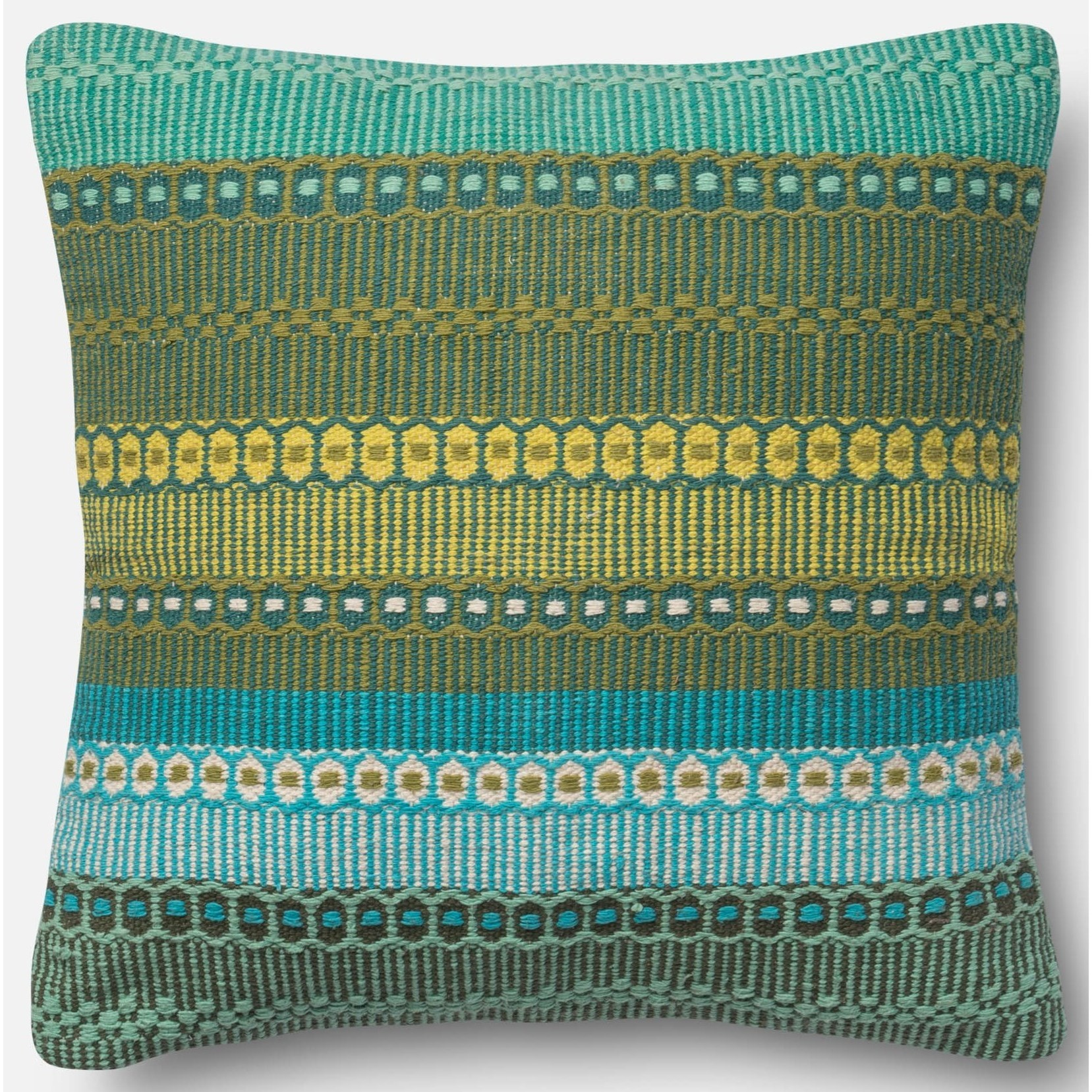 "Accent Pillows 22"" X 22"" Down Pillow by Loloi Rugs at Sprintz Furniture"