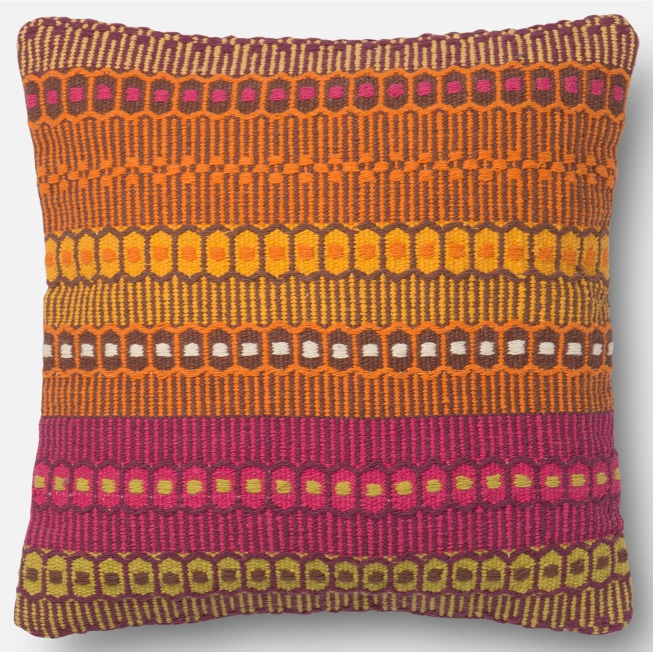 """Accent Pillows 18"""" X 18"""" Cover w/Poly by Loloi Rugs at Virginia Furniture Market"""