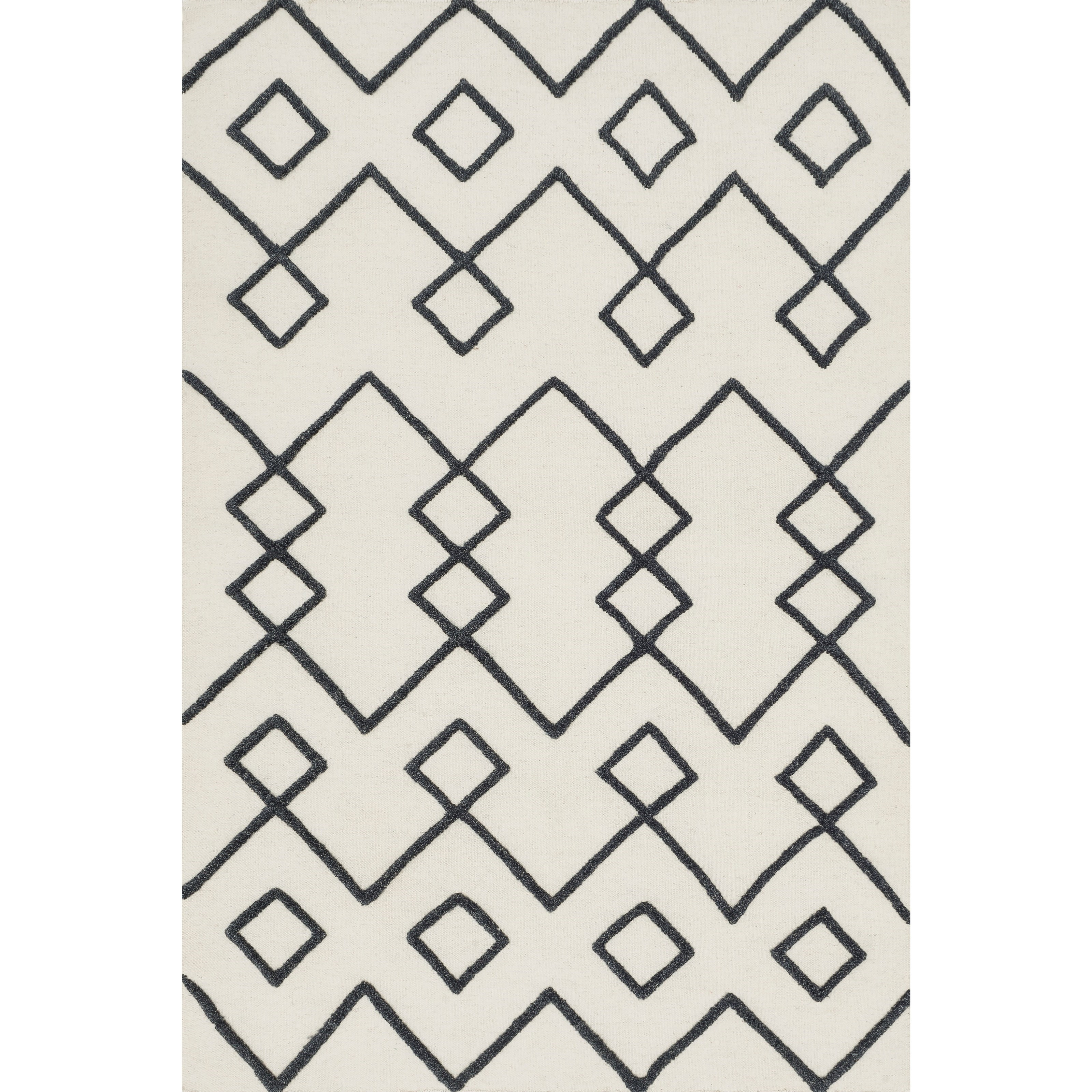 """Adler 1'6"""" x 1'6""""  Ivory Rug by Loloi Rugs at Sprintz Furniture"""