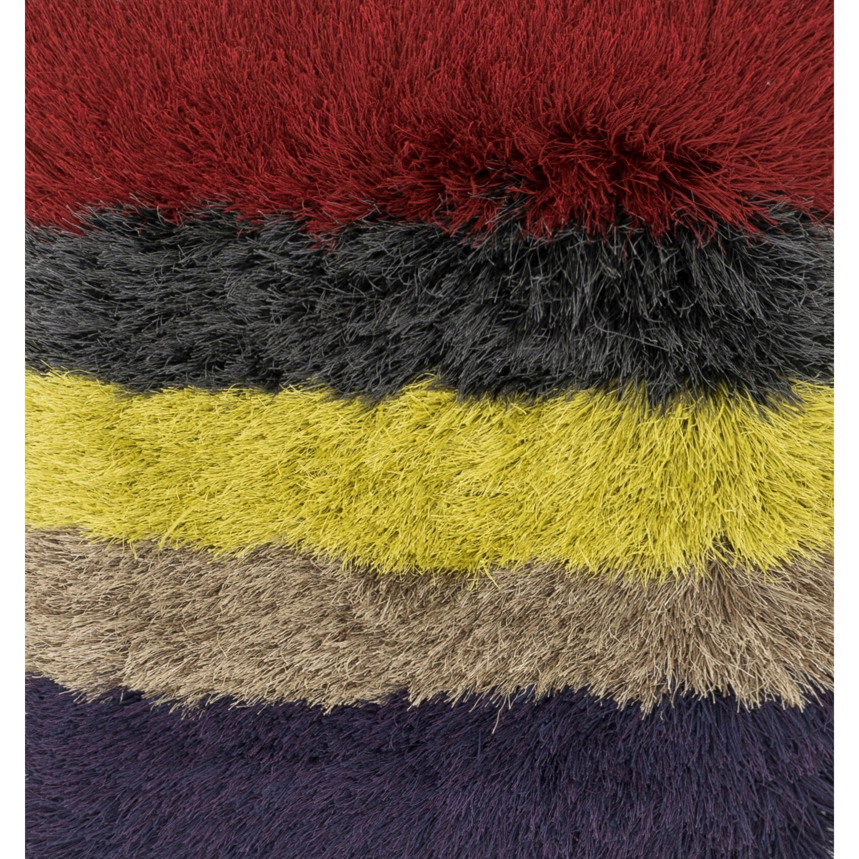 "Allure Shag 1'6"" x 1'6""  Color Block / 02 Rug by Loloi Rugs at Virginia Furniture Market"