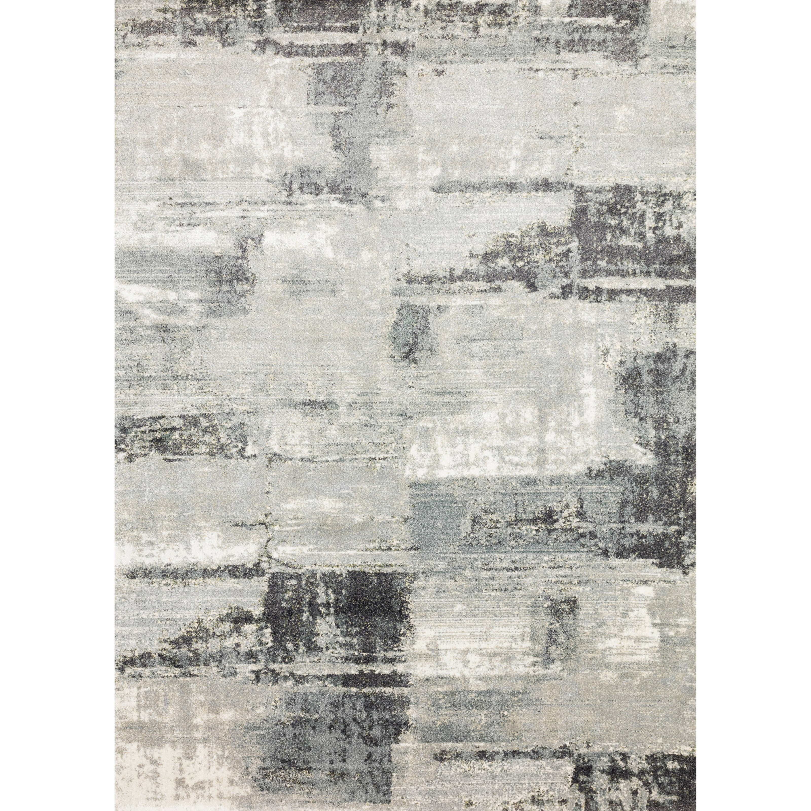 """Augustus 3'7"""" x 5'7"""" Slate Blue Rug by Loloi Rugs at Virginia Furniture Market"""