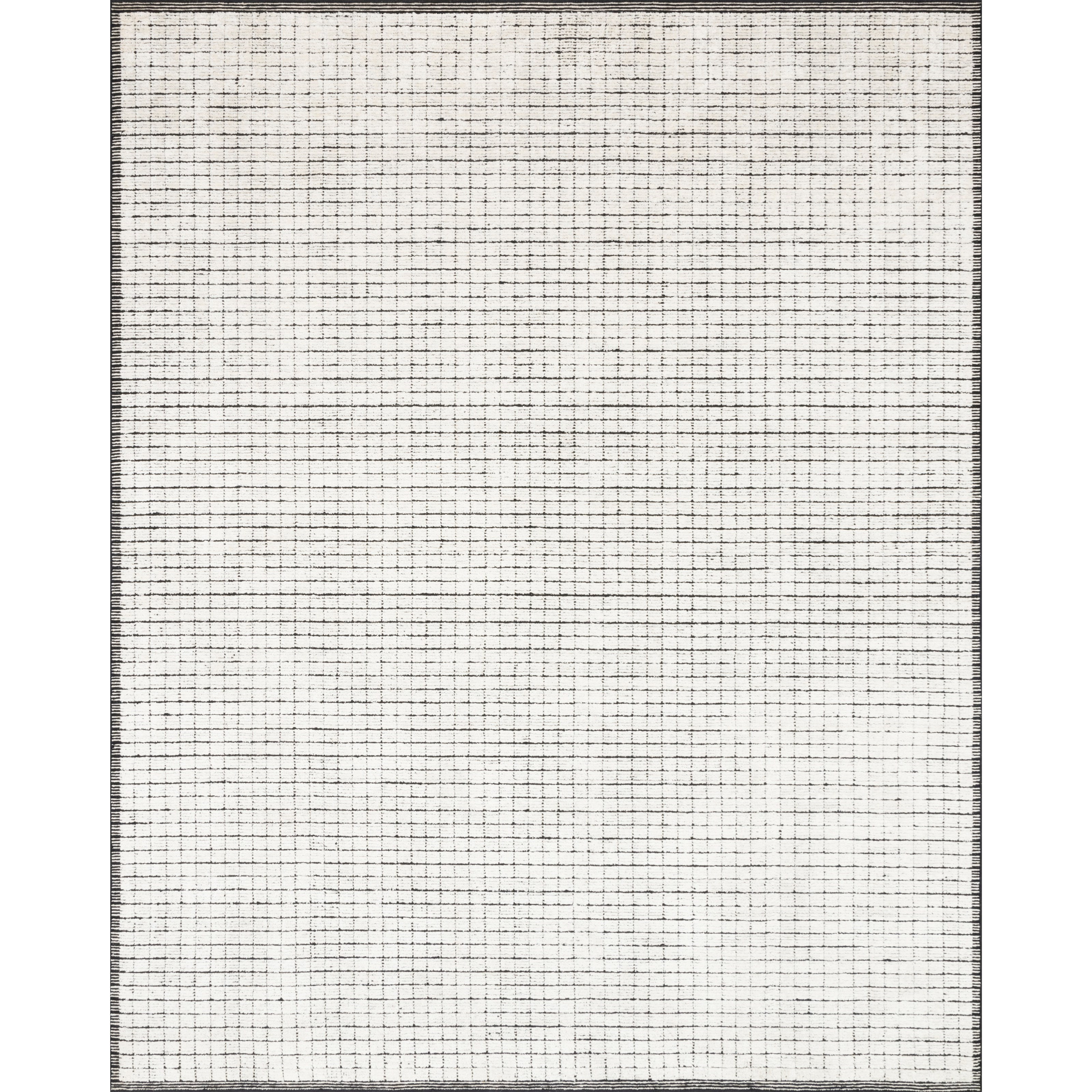 """Beverly 2'6"""" x 8'6"""" Ivory / Black Rug by Loloi Rugs at Virginia Furniture Market"""