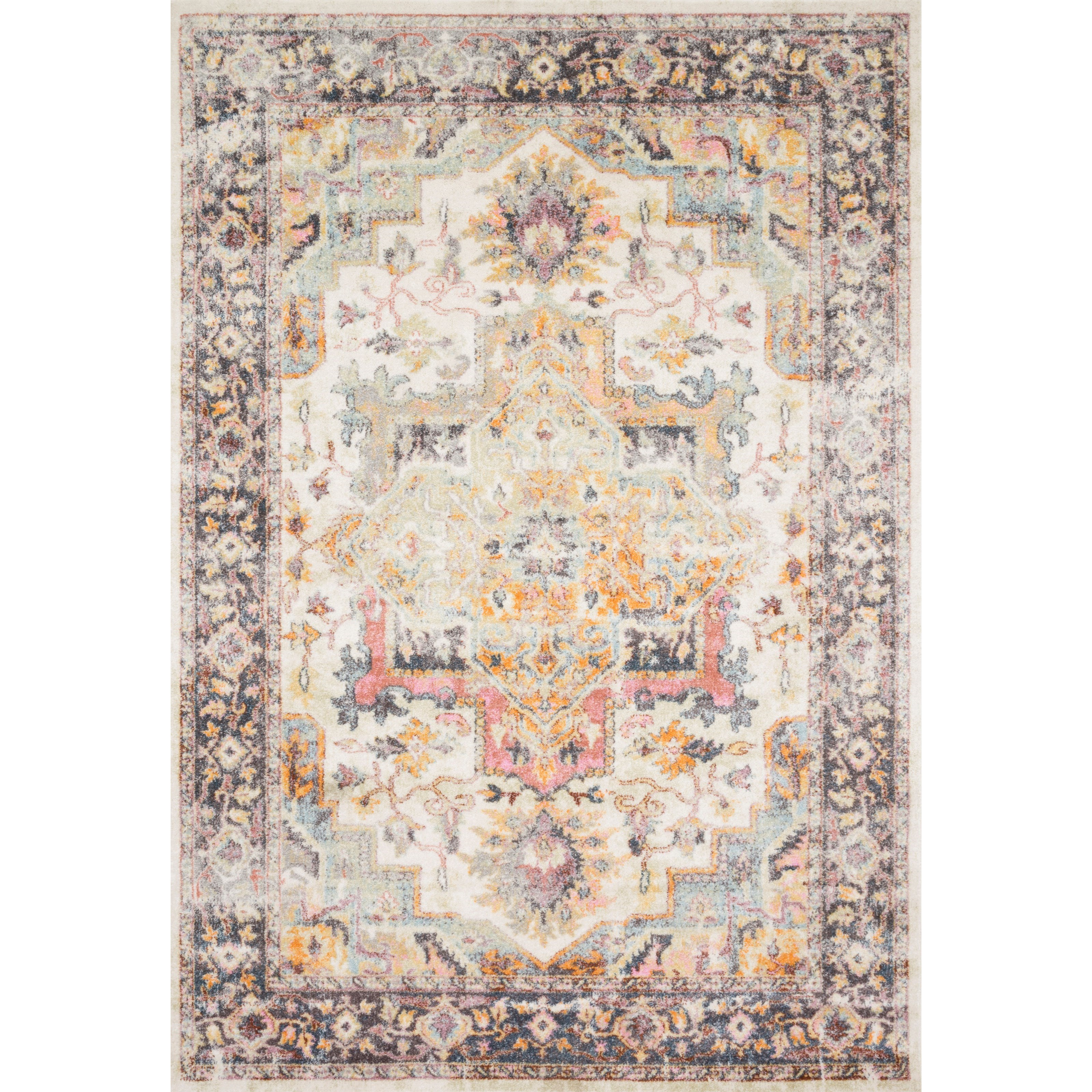 """Clara 11'6"""" x 15' Ivory / Charcoal Rug by Loloi Rugs at Virginia Furniture Market"""
