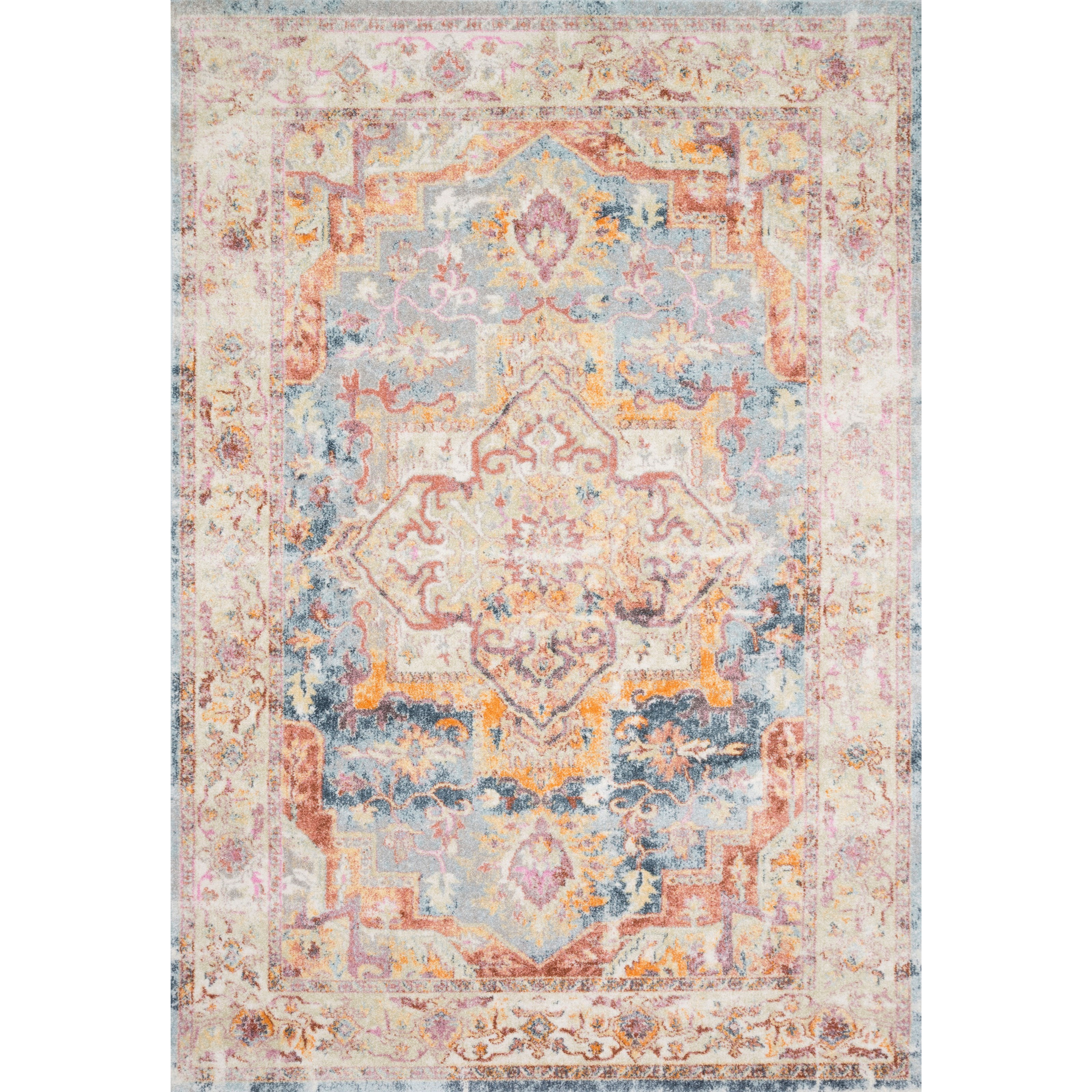 """Clara 2'5"""" x 10'6"""" Sunset / Ivory Rug by Loloi Rugs at Virginia Furniture Market"""