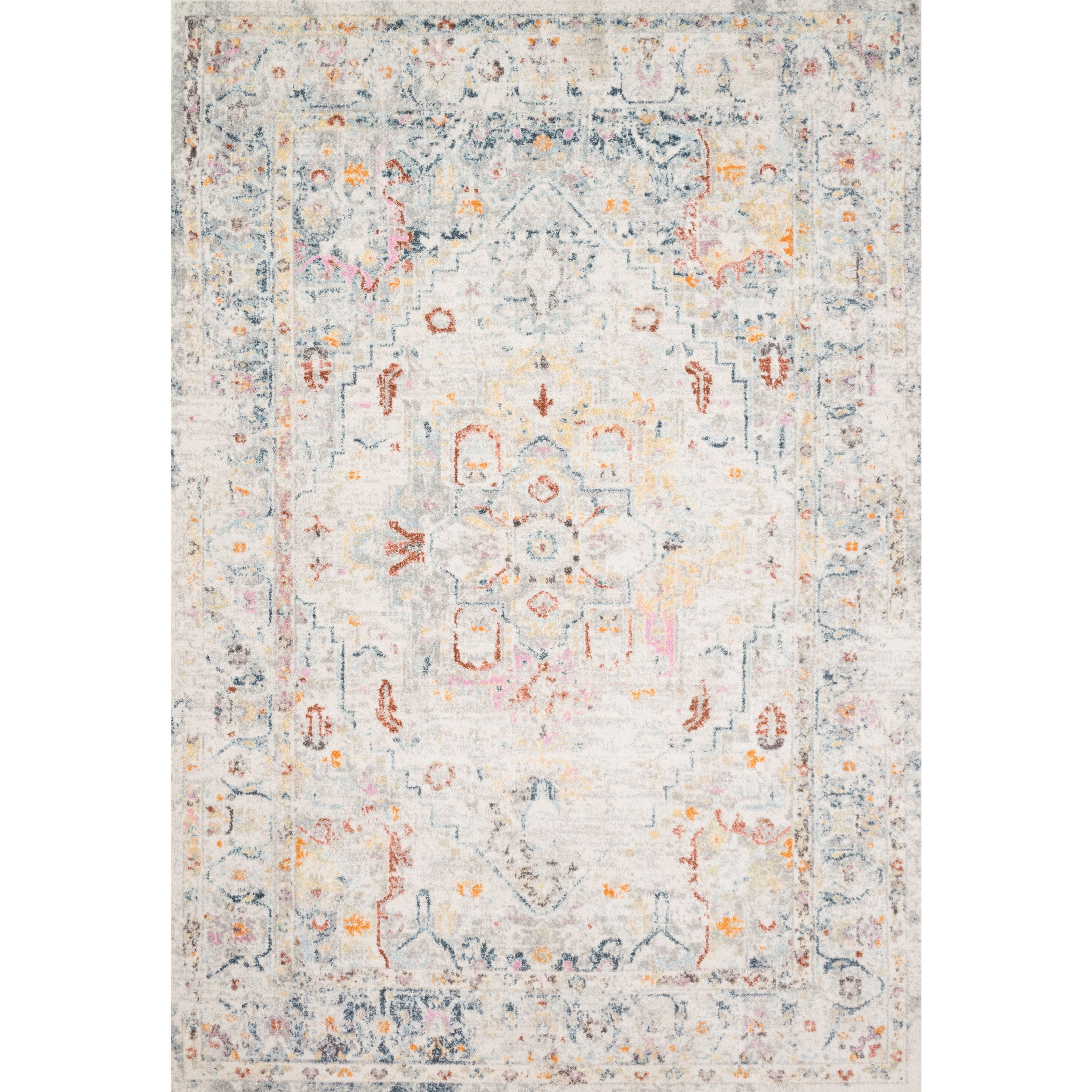 "Clara 2'5"" x 13' Lt Grey / Multi Rug by Loloi Rugs at Virginia Furniture Market"